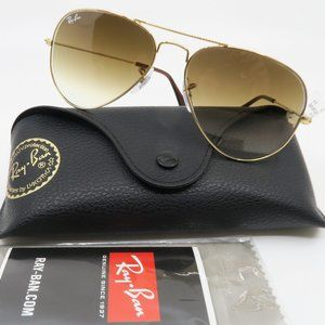Ray-Ban RB3025 001/51 55-14 Aviator Brown Gradient